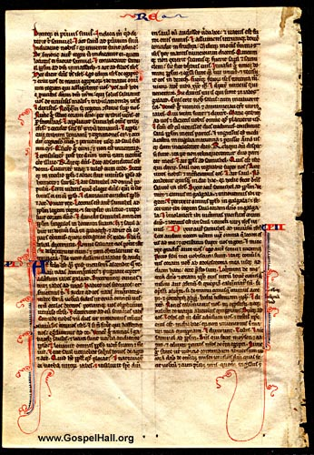 Latin Bible Leaf