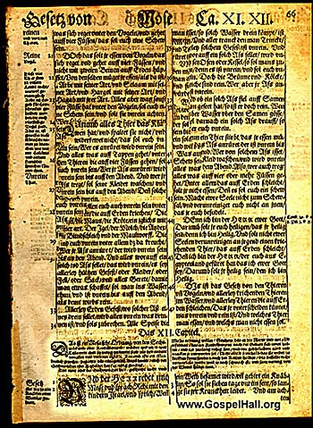 Martin Luther German Bible Leaf