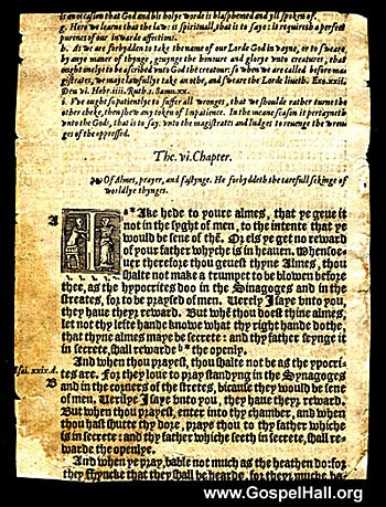 William Tyndale Bible Leaf