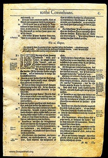 Bishops Bible Leaf