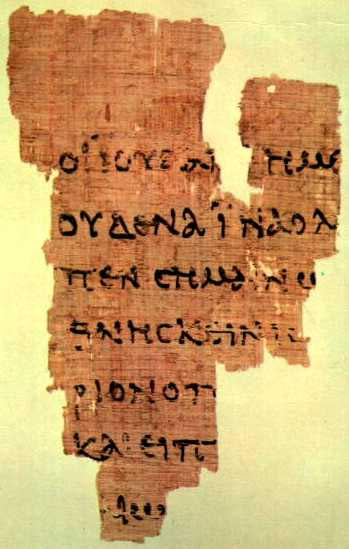 p52 bible fragment gospel of john