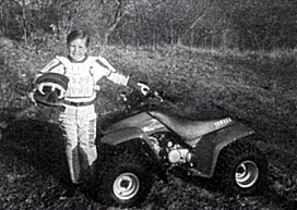 Jason and his four-wheeler