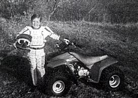 Jason and his four-wheeler