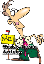 Weekly lesson newsletter