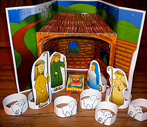 Printable Manger Nativity Scene