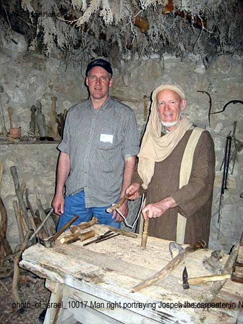 photo_of_israel_10017 Man right portraying Jospeh the carpenter in Nazareth.jpg