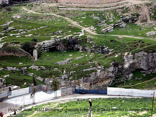 photo_of_israel_10171 Remains of channels in the City of David quarried to deliver water to the Kidron Valley.jpg
