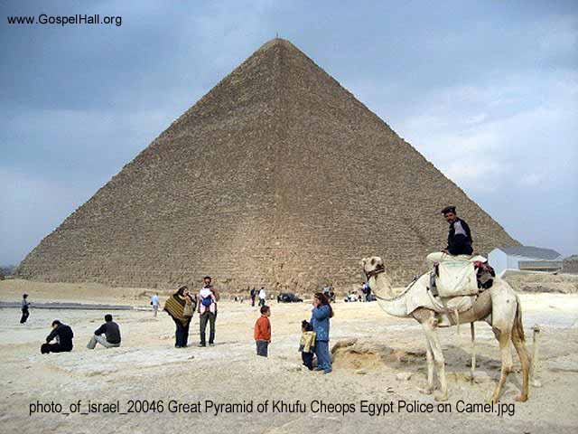 photo_of_israel_20046 Great Pyramid of Khufu Cheops Egypt Police on Camel.jpg