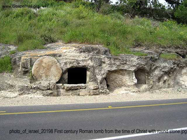 photo_of_israel_20198 First century Roman tomb from the time of Christ with round stone.jpg