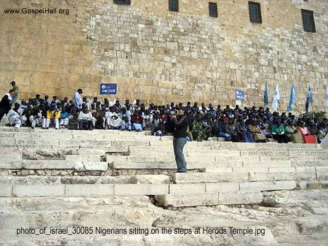 photo_of_israel_30085 Nigerians sititng on the steps at Herods Temple.jpg