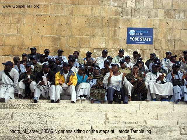 photo_of_israel_30086 Nigerians sititng on the steps at Herods Temple.jpg