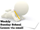 Weekly Sunday school lesson newsletter